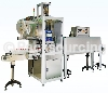 Shrink label sleeving machine, shrink labelling machine