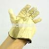 Beige Cowhide Driver Glove