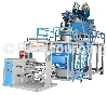 Three-tier co-extruded film blowing machine