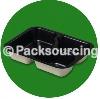 73417: 3 Compartment Tray, Regular Depth (Black)