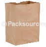 "DURO PAPER BAG, 1/8 BARREL SACK, KRAFT, 10.5"" X 6.5"" X 14.25"" - 500 PER PACK"