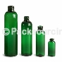 Plastic Green Bullet (Cosmo Round) Bottles