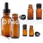 Glass Amber Essential Oil Bottles