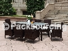 8chairs rattan dining table se
